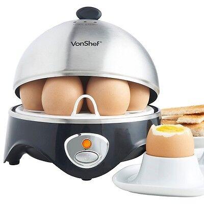 Best Egg Boiler Cooker 7 Eggs Soft or Hard Boiled Poached Stainless Steel