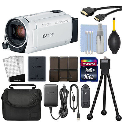 Canon VIXIA HF R800 Full HD Camcorder HFR800 White 57x Advance Zoom + 16GB Kit