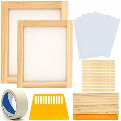 20 Pcs Screen Printing Starter Kit10 X 14 Inch Wood Silk Screen Printing Frame