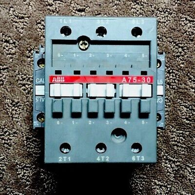 Abb Gae75-30 Contactor With 1 Abb Cal5-11 1 Cdl5-01 Auxiliary Contacts