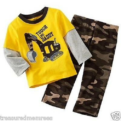 Carter's 2 Piece Tough Like Daddy Layered Shirt & Camouflage Pants Set ~ NWT