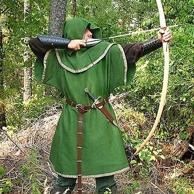 Robin Hood Tunic (ROBIN HOOD Bandit of Sherwood Forest GREEN ARCHER Medieval TUNIC with HOOD)