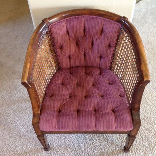 vintage cane chair ebay. Black Bedroom Furniture Sets. Home Design Ideas