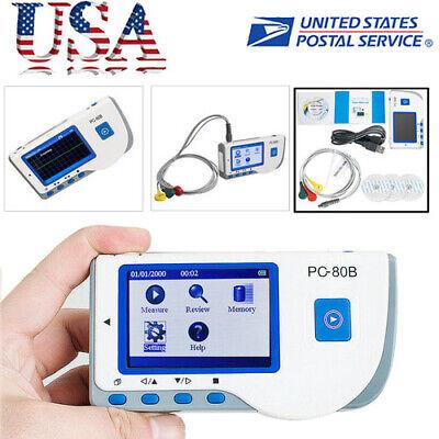 Ce Pc-80b Handheld Color Screen Ecg Ekg Portable Heart Monitor Single Channel Us