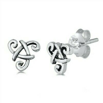 Celtic Stud Earrings Genuine Sterling Silver 925 Best Jewelry Product Height