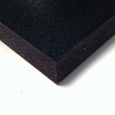 Black Pvc Celtec Foam Board Sheet 12 X 24 X 6mm 14 .25 Thickness