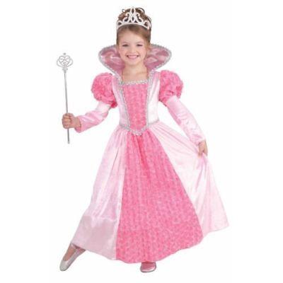 Rosa Königin Kostüme (Kinder Prinzessin Rose Halloween Königin Rosa Kostüm Größe L 12-14)
