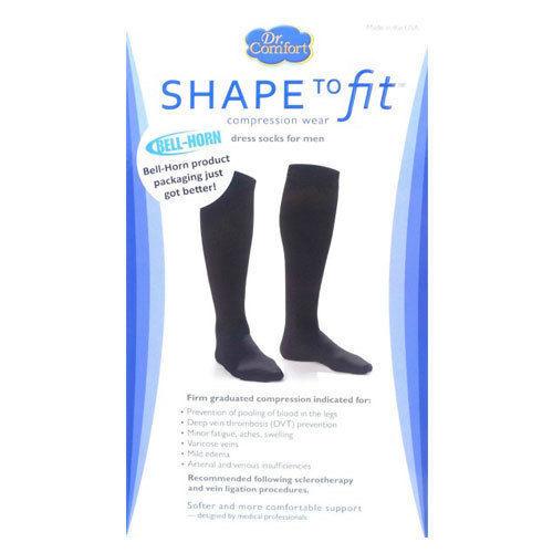 Mens Dress Socks 20-30 mmHg Compression Calf Supports Therap