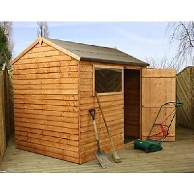 8 x 6 Overlap Reverse Apex Shed