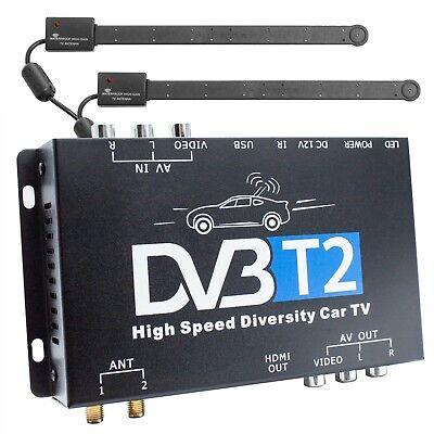 DVB-T2 H.265 HEVC Receiver 2x Antenne Auto Kfz 12V/24V DVBT2 Tuner Empfänger Box online kaufen