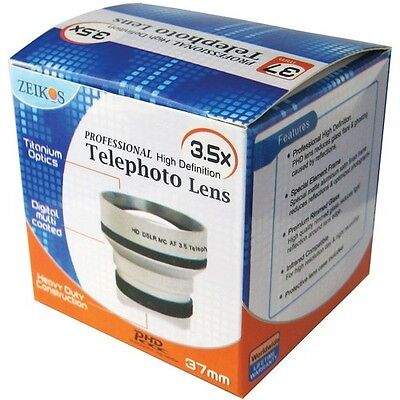 Zeikos ZE-3537T 3.5x Professional HD Tele Telephoto Lens for 37mm Filter thread for sale  Shipping to India