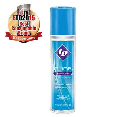 ID GLIDE 17 fl oz Lube Lubricant Natural Feel water based Sex Lubricant  Id Glide Lubricant
