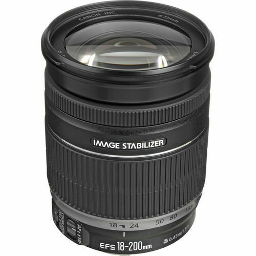 Canon EF-S 18-200mm f/3.5-5.6 IS Standard Zoom Lens Black 2752B002