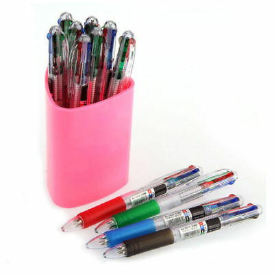 12 Pcs 4 Color Ink 4in1 0.7mm Ballpoint Pens Office Student