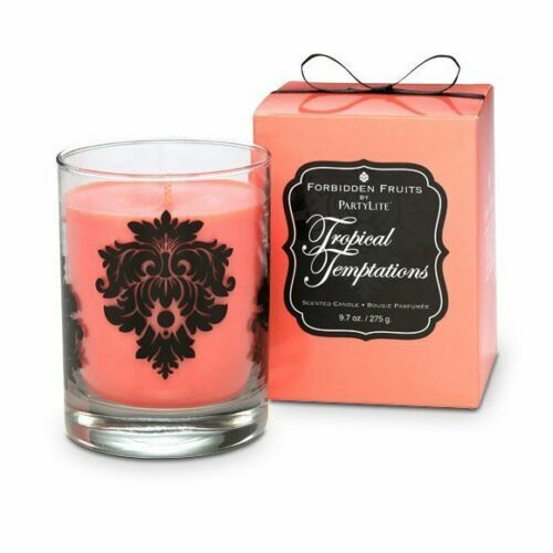 PartyLite Forbidden Fruits Scented Jar Candle, TROPICAL TEMPTATIONS, NIB