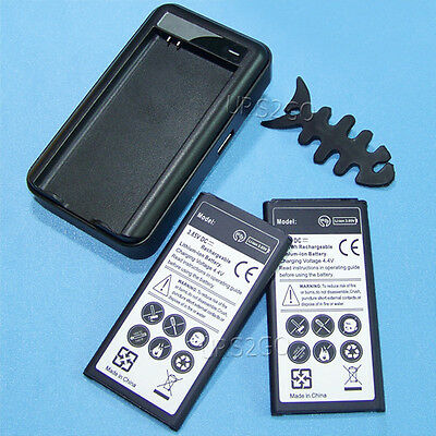 2x 5400ma Standard Battery+wall Charger F At&t Samsung Ga...