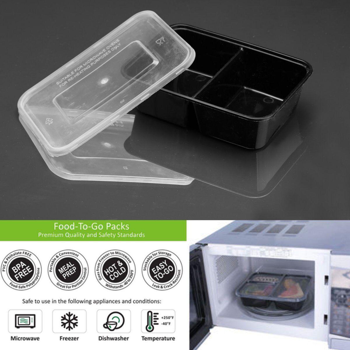 10x Meal Prep Container Kunststoff Lebensmittel Aufbewahrung Mikrowellengeeignet