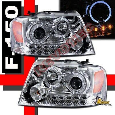 04-08 Ford F150 Pickup 06-08 Lincoln Mark LT Halo LED Projector Headlights RH+LH