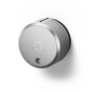 August AUG-SL-CON-S03 Silver Smart Lock Pro, 3rd Generation-Dark Gray, Apple HomeKit Compatible and Z-Wave Plus Enabl...
