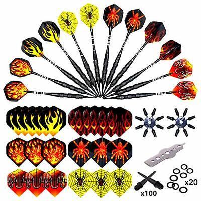 Roobeeo Soft Tip Darts 12 Pcs 18g Plastic Tip Darts Set for Electronic Dart B...