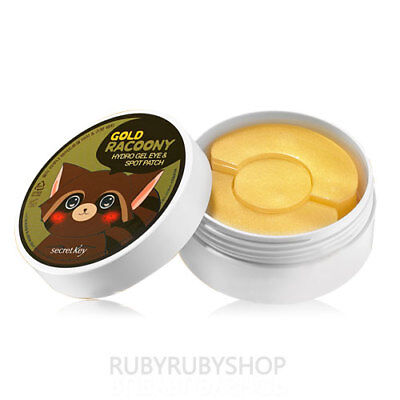 [Secret Key] Gold Racoony Hydro Gel Eye & Spot Patch (Eye 60ea / Spot 30ea)