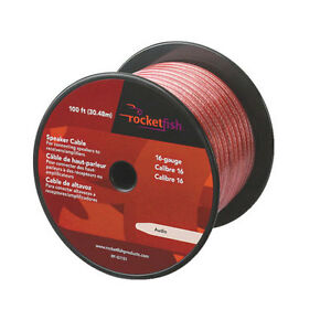 Rocketish 100ft (30.4m) 16AWG Speaker Cable (RF-G1151C)
