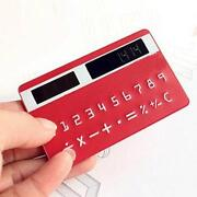 Mini Slim Credit Card Solar Power Pocket Calculator