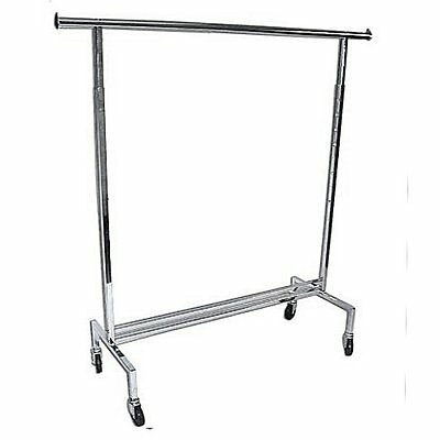 New Rolling Gown Rack Chrome - Adjustable Height