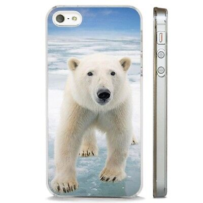 Polar Bear Arctic Ice CLEAR PHONE CASE COVER fits iPHONE 5 6 7 8 X - Ice Clear Case Iphone