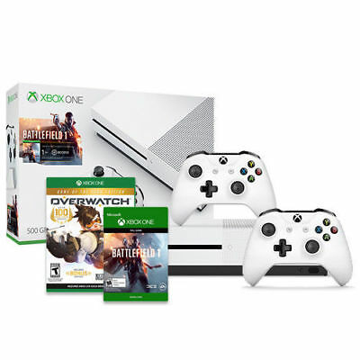 Xbox One S Battlefield 1 500GB Tie up together + Xbox Controller + Overwatch GOTY Issue