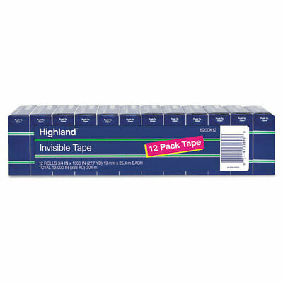 3m Highland Invisible Permanent Mending Tape Mmm6200k12