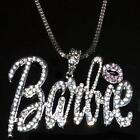 Iced Out Barbie Necklace