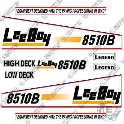 Leeboy 8510b Decal Kit Asphalt Paver Equipment Decals - 7 Year Vinyl