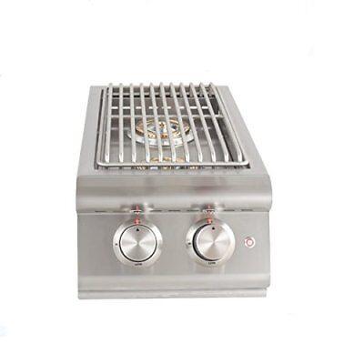 Built In Double Side Burner (Blaze BUILT-IN LTE double side burner w/ lights in LIQUID PROPANE - LP )