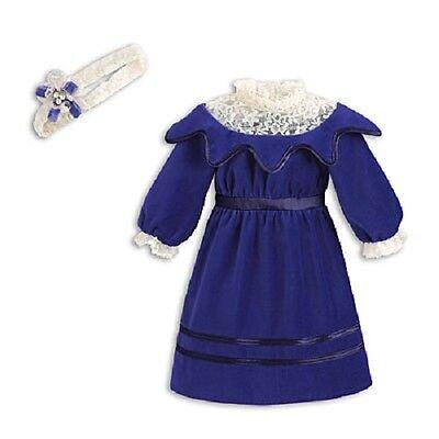 American Girl SAMANTHA'S BLUE VELVET Party DRESS for Samantha Doll FAST SHIPPING