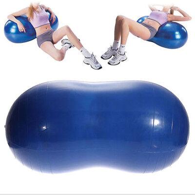 New Yoga Ball Peanut Shape Fitness Exercise Workout Gym Blue 90x45cm