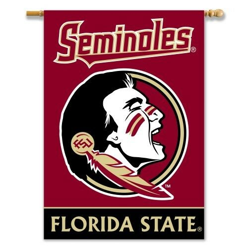 "Florida State Seminoles 2 Sided 28"" X 40"" House Banner Flag W/ Pole Sleeve"