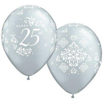 Happy 25th Anniversary Qualatex Latex Balloons Anniversary Party Supplies Decor (25th Anniversary Party Supplies)