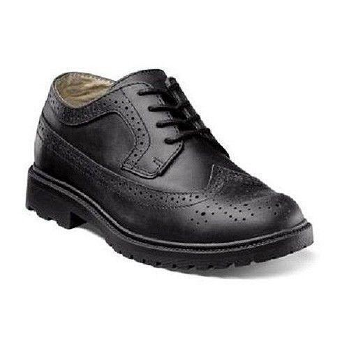 Toddler Black Wingtip Shoes