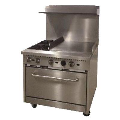 Comstock Castle R6-24 Gas 36 Restaurant Range With 24 Griddle - 150000 Btu