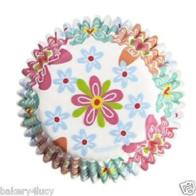 75 SPRING SUMMER EASTER FLOWERS CUPCAKE LINERS BAKING CUPS BIRTHDAY PARTY SUPPLY - Easter Cupcake