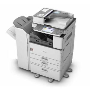 Ricoh MP 3352 Monochrome Multifunction Printer BUY LEASE RENT - Copy, Print, Color Scan, 11x17, A3, Stapler, USB
