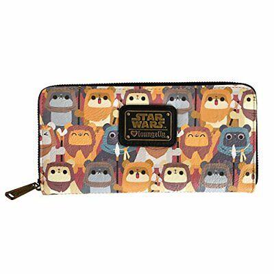 Official Loungefly Star Wars Ewok Zip Around Purse Wallet New