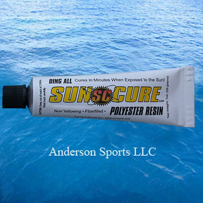 - SUN CURE FIBERFILL MINI TUBE 1 OZ Ding All Repair Surfboard Longboard Shortboard