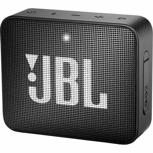JBL GO 2 Portable Bluetooth Waterproof Speaker Black (JBLGO2BLKAM)
