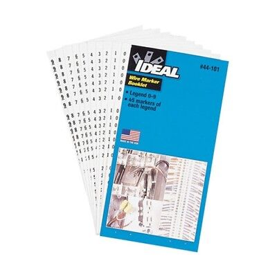 Ideal 44-101 Wire Marker Book 0-9