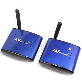 Wireless Audio Video SD TV AV Sender/Receiver with IR Remote