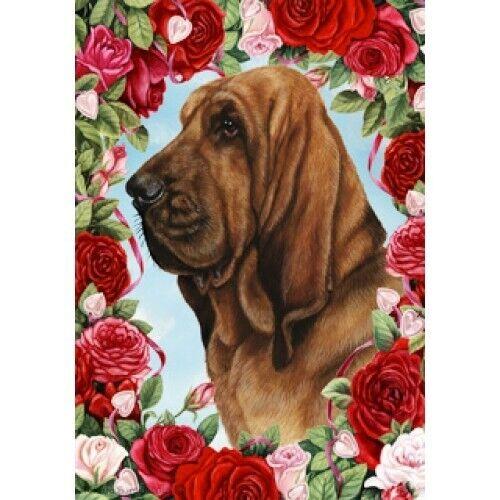 Roses Garden Flag - Bloodhound 190731