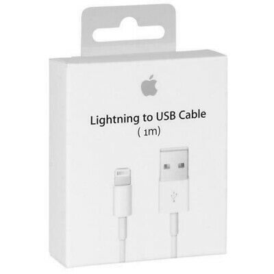 Genuine Apple iPhone 5s 5c 6 6s 7 8 iPod 1m Lightning To USB Charging Cable Lead