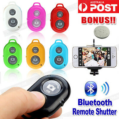 Bluetooth Remote Control Shutter Camera MonoPod TriPod for iPhone Samsung Selfie